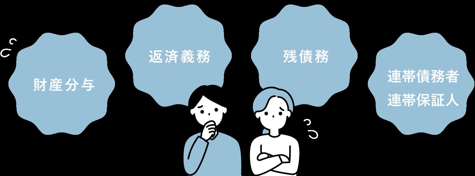 財産分与 返済義務 残債務 連帯債務者・連帯保証人